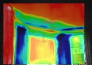 Thermal image of a bay window.